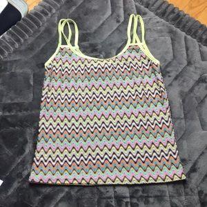 Vintage mesh knit tank